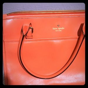 Orange kate spade handbag
